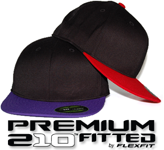 210 Premium Fitted Blank Hats by FlexFit