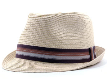 Straw grosgrain fedora Natural
