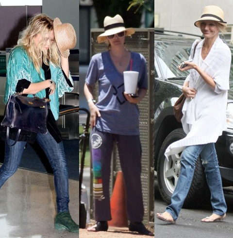 Celebrities in Straw Fedoras