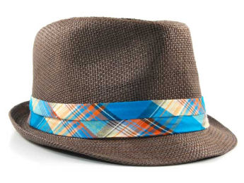 Straw Fedora at lids.com