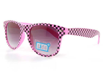 Pink checkered Sunglasses