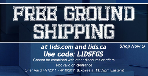 FREE GROUND SHIPPING at lids.com & lids.ca