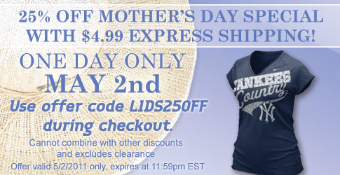 25% Off Mother's Day Special