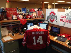 Zach's desk