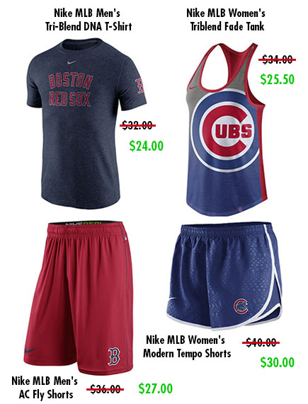 929093f3c Pair up your new Nike t-shirt with some Nike shorts that will be sure to  make a statement this summer! Baseball fans