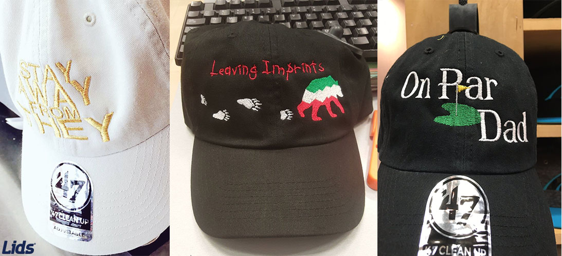 ... movement and head to your closest Lids store! You can find your local  store here. Any of our Lids associates are ready to help make your custom  dad hat ... 8a3fefae733