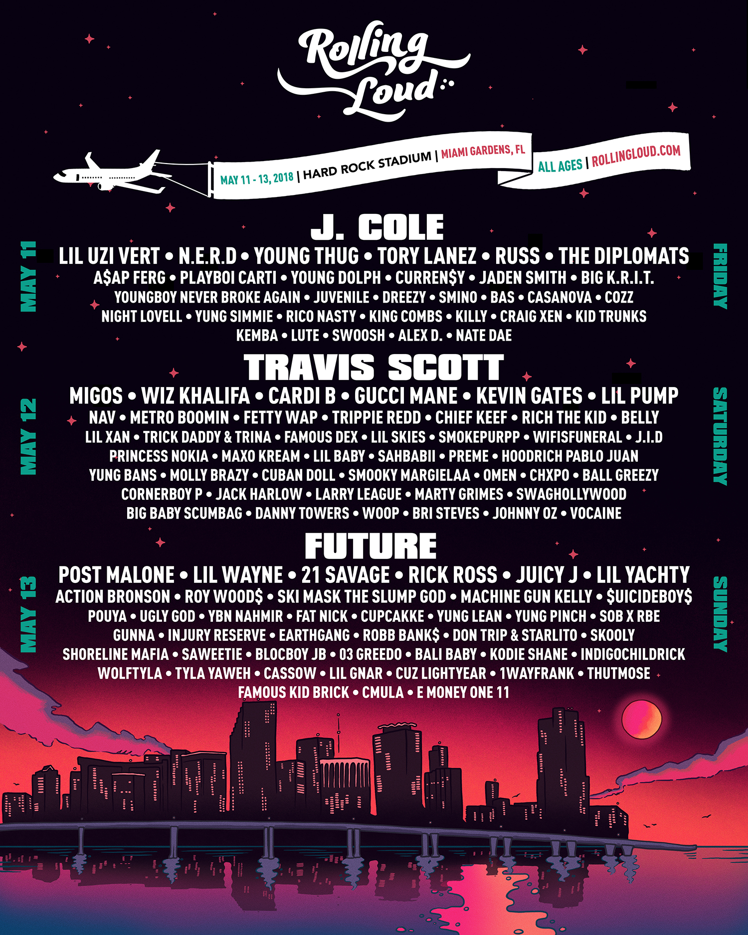 rolling loud line up