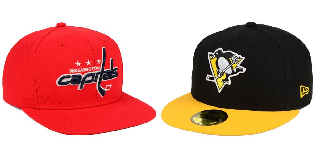 Washington Capitals and Pittsburgh Penguins Hats