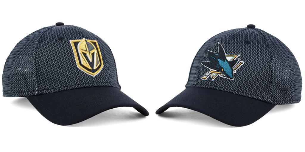 Las Vegas Knights and San Jose Sharks Hats