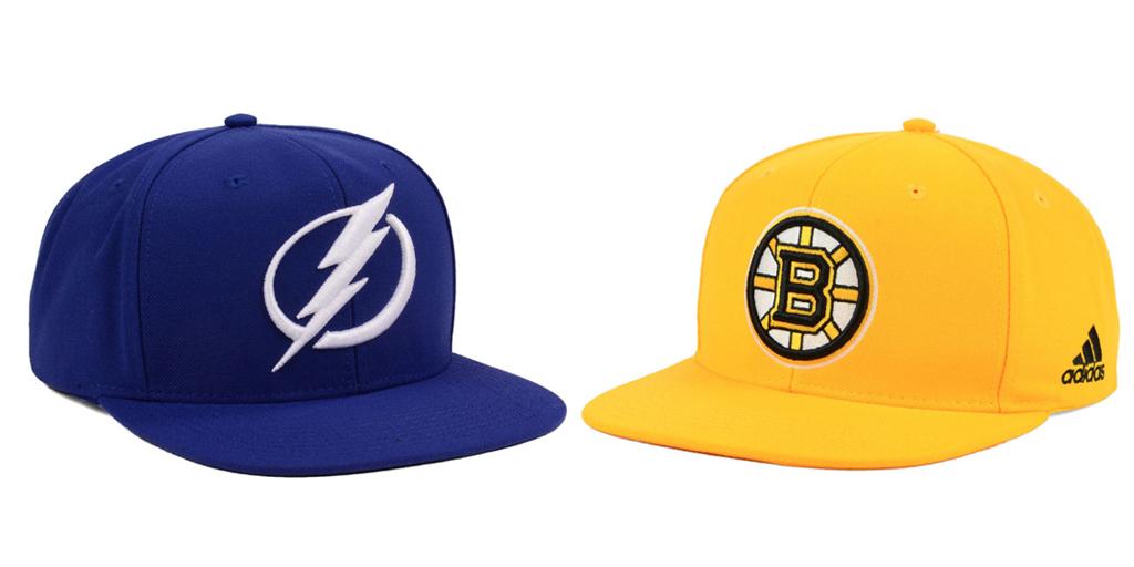 Tampa Bay Lightning and Boston Bruins Hats