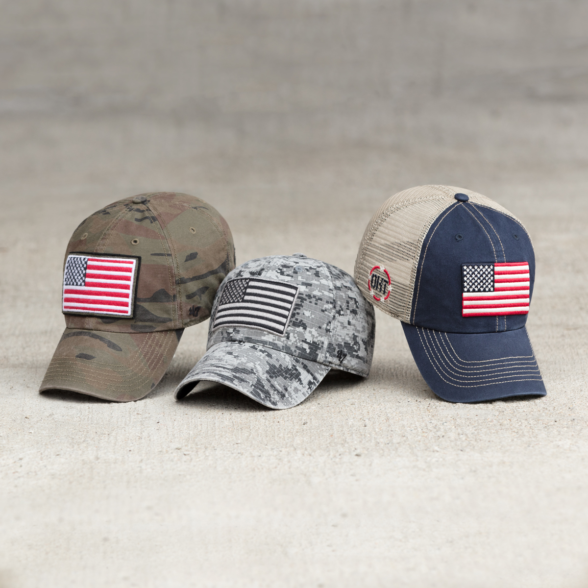 Operation Hat Trick American Flag Hats