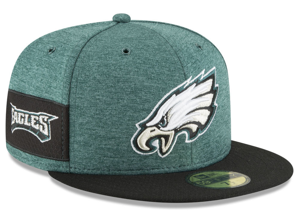 55be608cb7e Philadelphia Eagles New Era 2018 Official NFL Sideline Home 59FIFTY Cap ...
