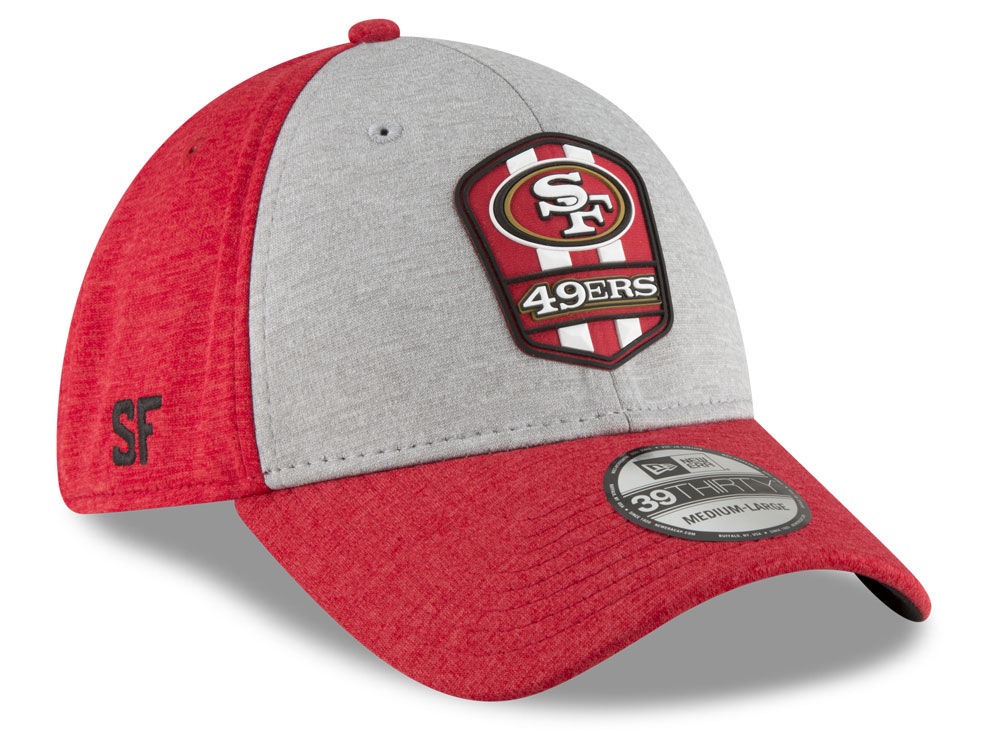 7f44efffeaf ... San Francisco 49ers New Era 2018 Official NFL Sideline Road 39THIRTY Cap  ...