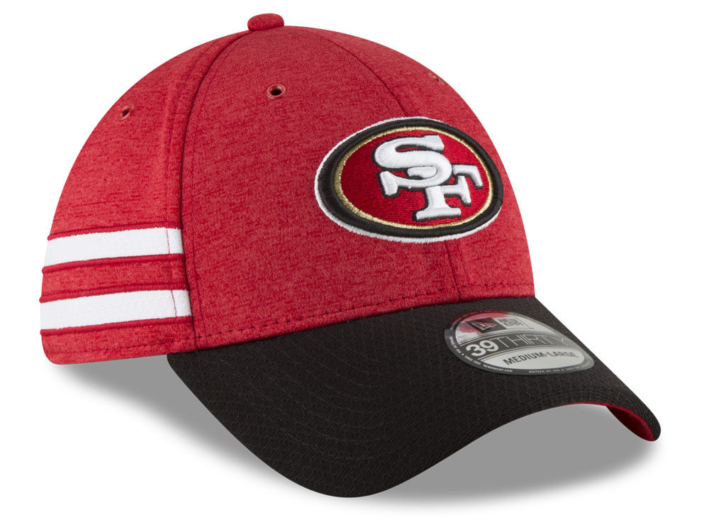 416dd868293 ... San Francisco 49ers New Era 2018 Official NFL Sideline Home 39THIRTY Cap  ...