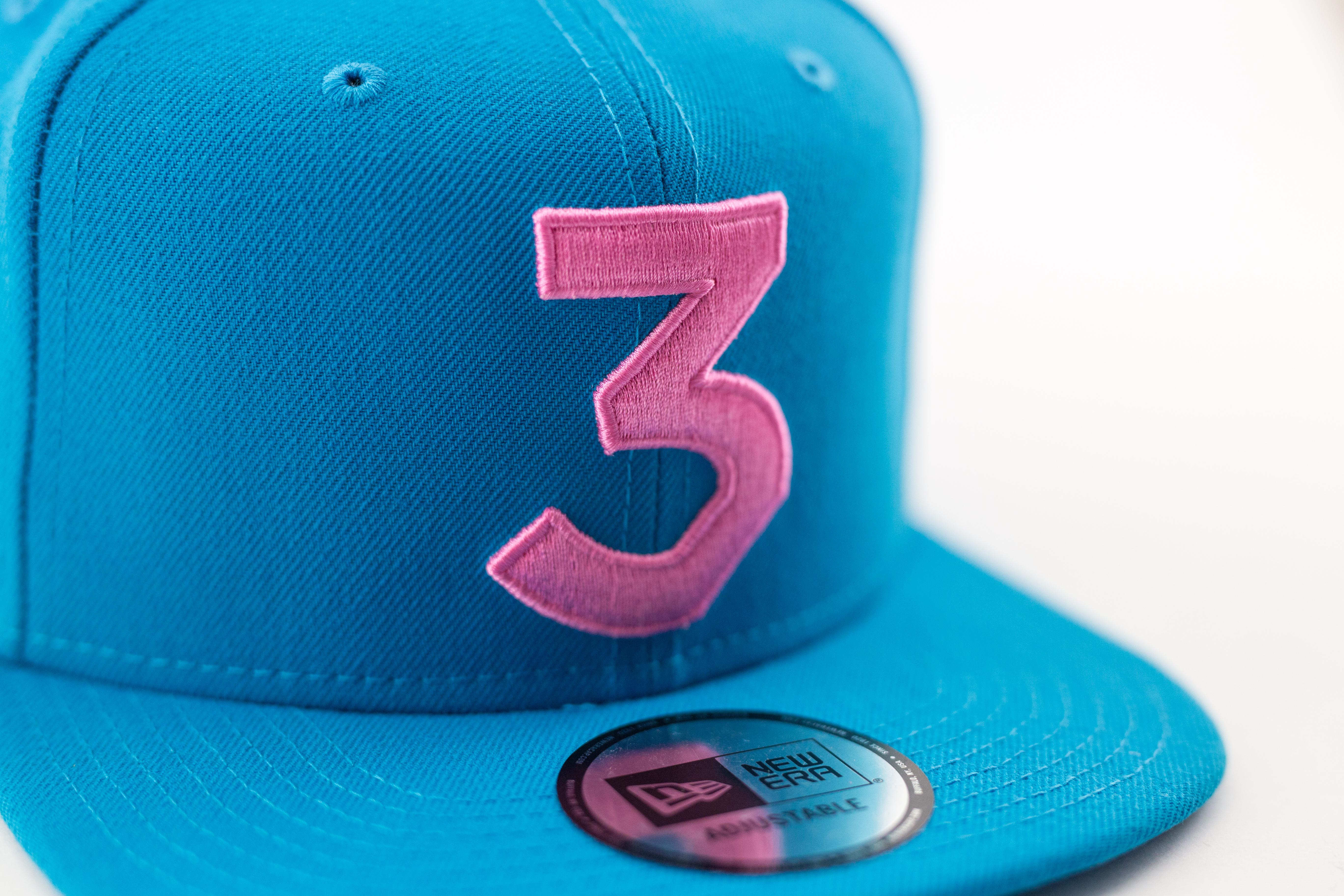 248623353f1 Chance the Rapper snapback blue pink Chance The Rapper New Era 3 Snapback  Cap