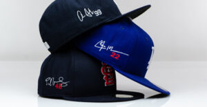 Embroidigraph league headwear with your favorite player
